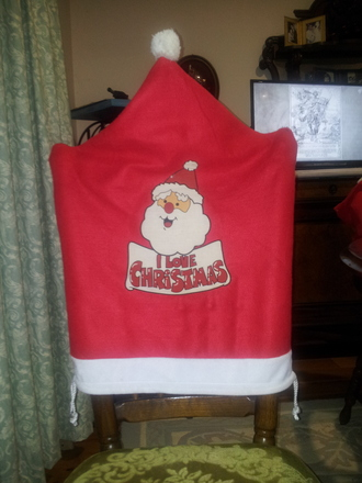 socks santa claus christmas chair hat i love chrisrmas christmas chair cover chair cover