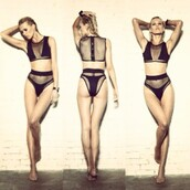 swimwear,mesh bikini,black bikini,mesh,two-piece,bikini,style,sexy,cute,fashion,dope swimwear