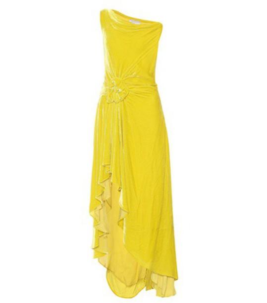 Monse dress velvet dress velvet yellow