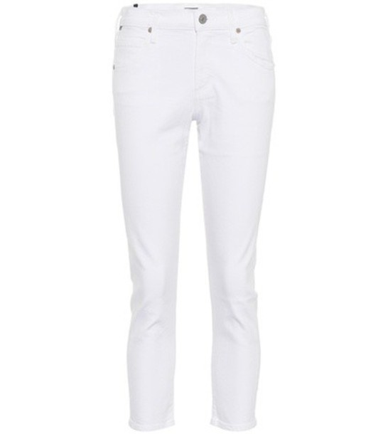 jeans cropped white