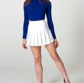skirt,tennis skirt,pleated skirt,white skirt