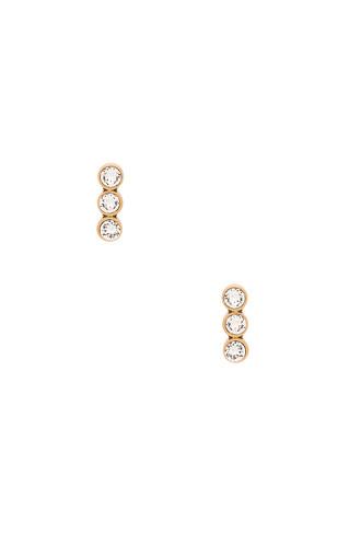 sparkle earrings metallic gold jewels