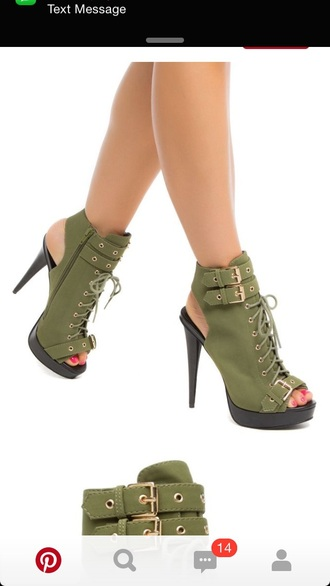 shoes heels high heels green boots cute cute high heels