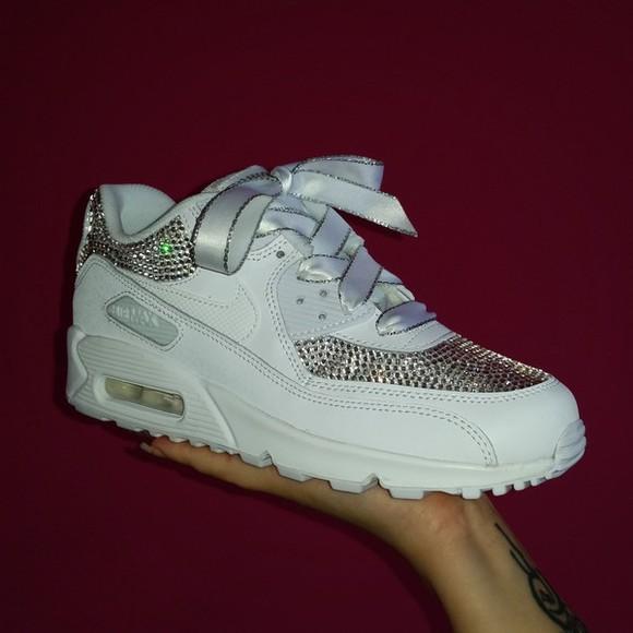sparkle shoes swarovski nike air air max airmax 90 nike air max 90 crystal reed custom nike