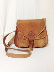 bag,vintage,leather bag,crossbody bag,brown saddle bag