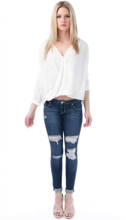 Roll up drapey top