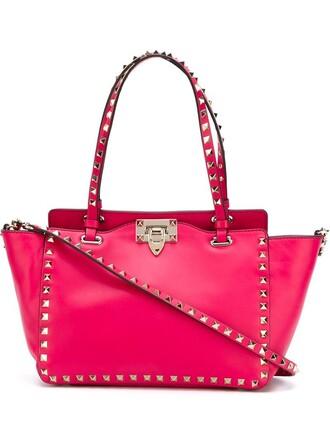 metal women leather purple pink bag