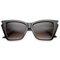 Jagged edge cat eye sunglasses at flyjane