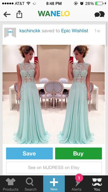 dress blue prom dress lace dress baby blue long dress sleeveless elegant dress