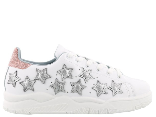 Chiara Ferragni white stars shoes