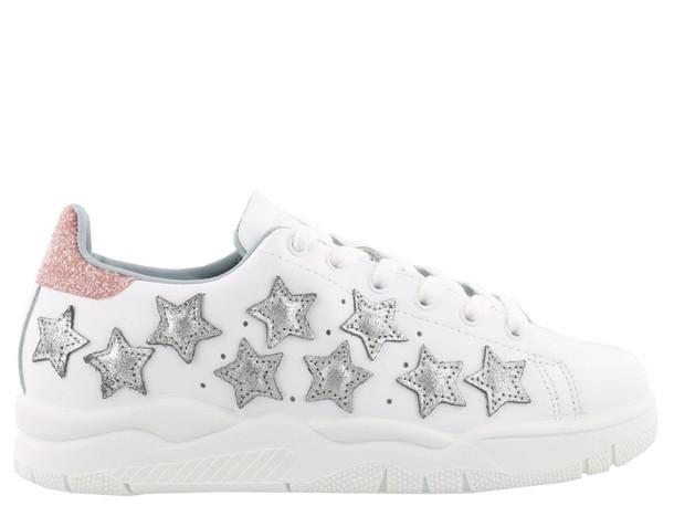 Chiara Ferragni white stars shoes