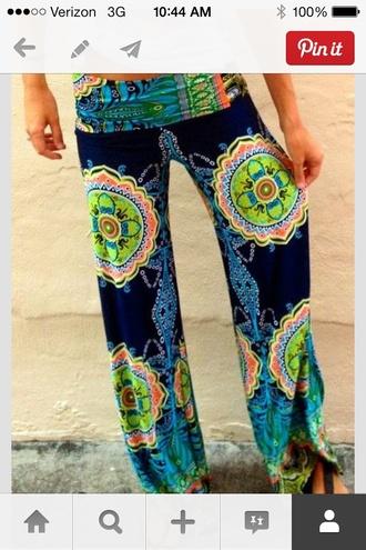 pants boho pants jeans printed pants azrec baggy pants black and white lace floral floral dress palazzo leggings palazzo pants colorful palazzos hippie hippie palazzo pants wide leg