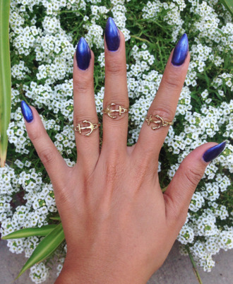 jewels anchor ring anchor knuckle ring anchor midi ring