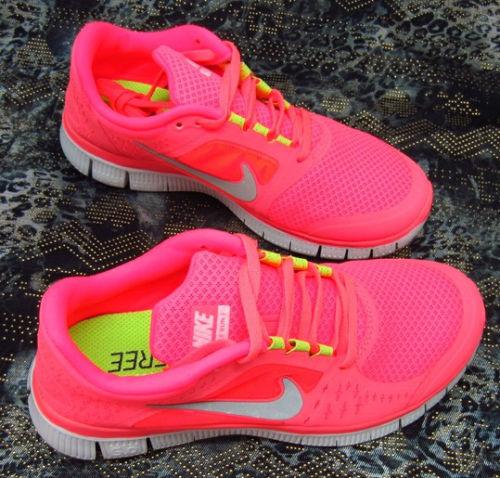 Hot Womens Nike Free Run 3 5 0 Running Shoes Hot Pink