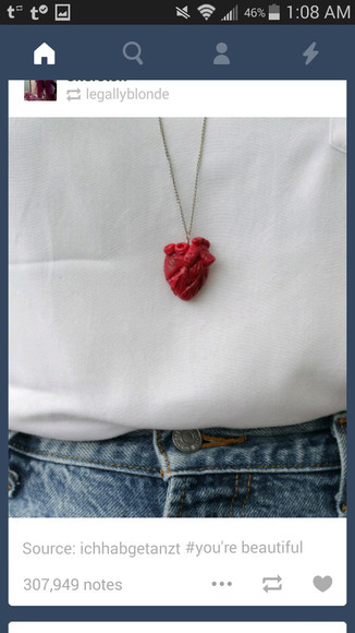 jewels necklace heart necklace