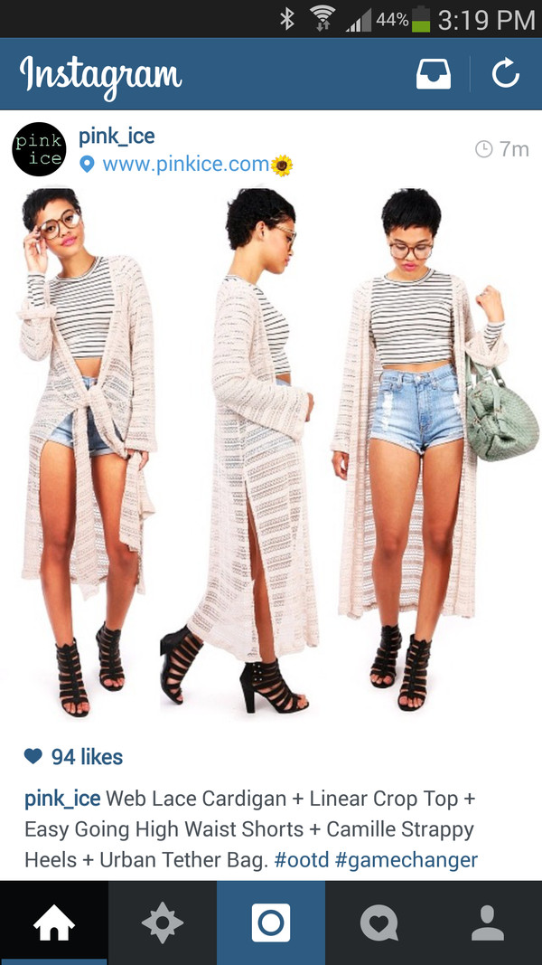 shirt cardigan knits heels crop tops High waisted shorts shorts sweater shoes