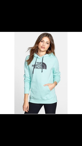 sweater blue black hoodie light blue north face