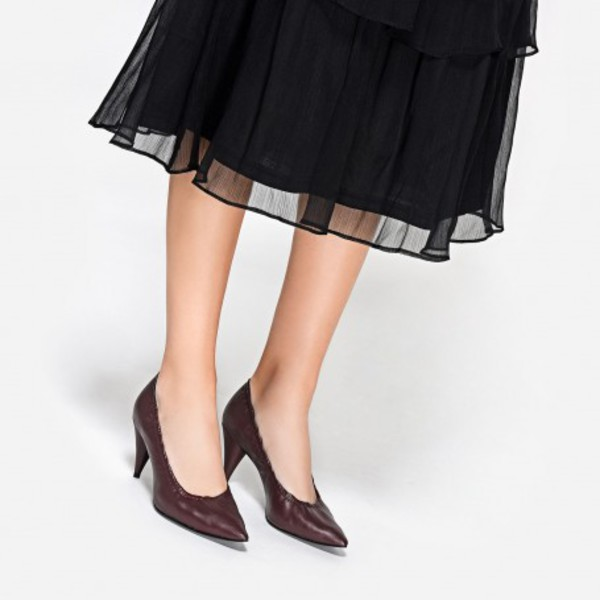 shoes burgundy burgundy heels pumps charles and keith