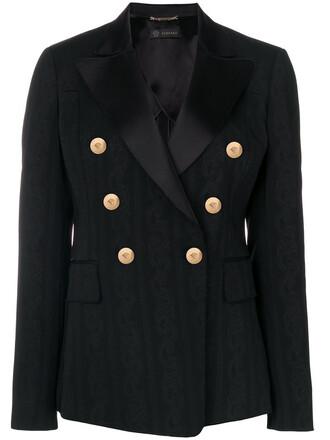 blazer women spandex black silk jacket