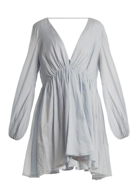 KALITA dress cotton light blue light blue
