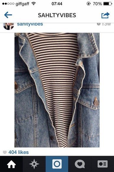 urban outfitters jacket denim stripes streetwear chic t-shirt