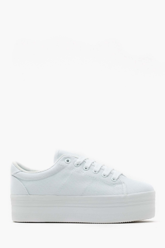 White in  shoes sneakers at nasty gal