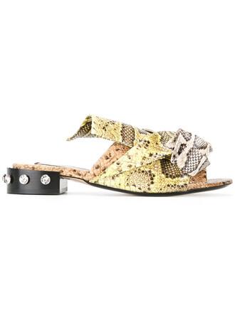 women sandals flat sandals leather print shoes
