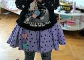 skirt,purple skirt
