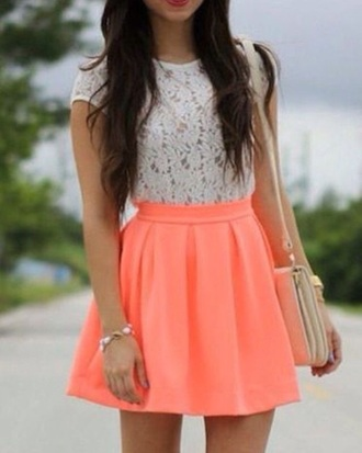 skirt neon skirt top