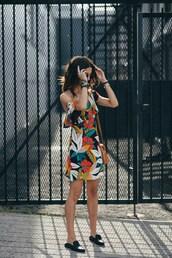 to bruck ave,blogger,dress,bag,jewels,loafers,shoulder bag,floral dress,summer outfits