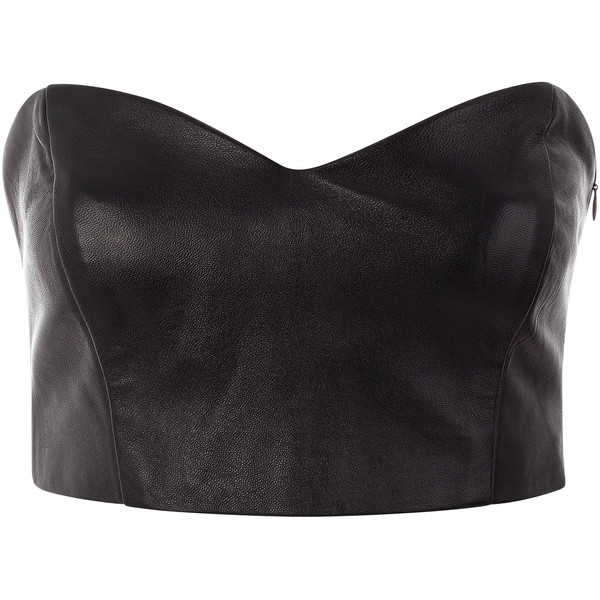 Funlayo Deri Leather Bustier - Polyvore