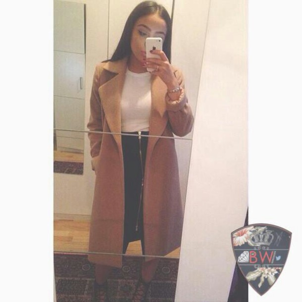 coat camel long coat women