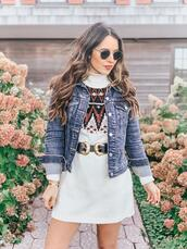ohsoglam,blogger,sweater,dress,jacket,belt