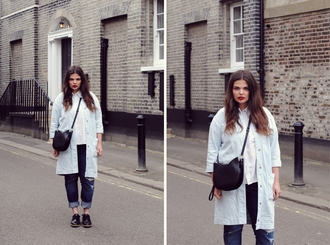 missplayground blogger coat shoes jeans bag shirt