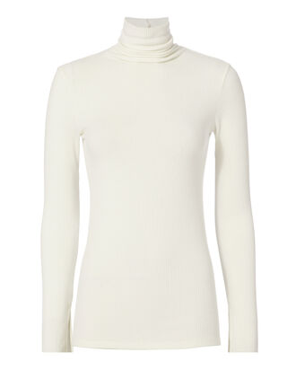 sweater intermix turtleneck turtleneck sweater white sweater white long sleeves knitted sweater knit women top white turtleneck top