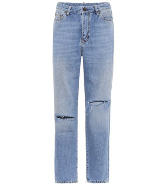 Saint Laurent jeans cropped jeans cropped high blue