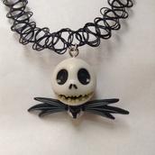 jewels,black,choker necklace,cute,skull,halloween