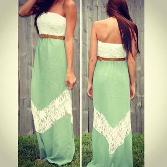 dress lace dress maxi dress mint dress cute dress