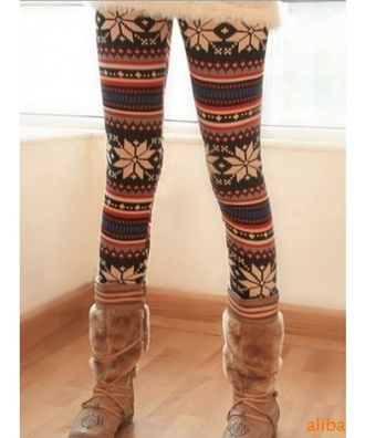 leggings printed pants winter outfits red lime sunday