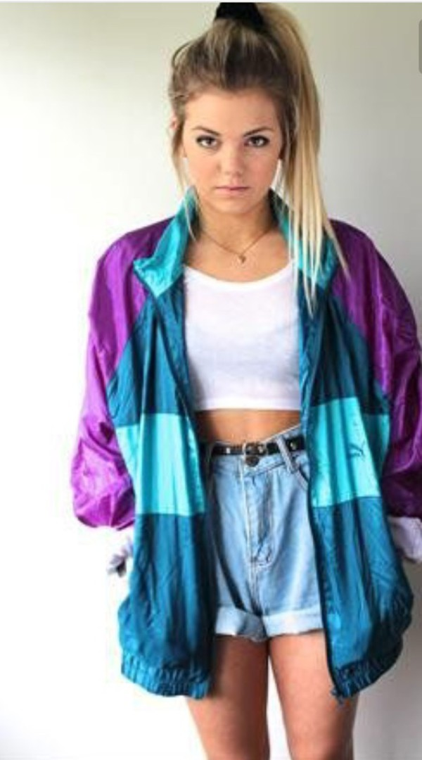 Jacket purple green blue 90s style jacker aesthetic grunge tumblr tumblr aesthetic ...