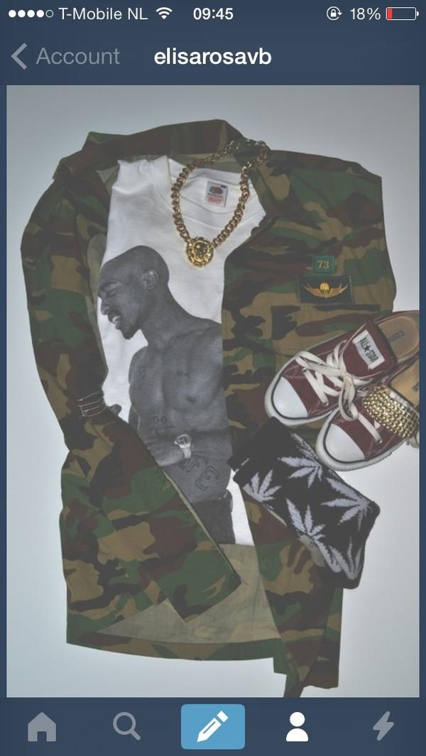 jacket tupac tupac shirt leather jacket dope jewels shirt socks