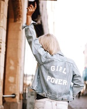 jacket,na-kd,denim jacket,quote on it,denim,fall outfits,fashion,style,trendy,cool