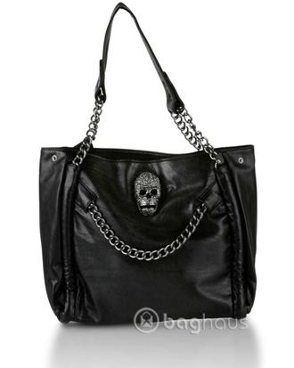bag skull handbag purse skulls sparkly skull chain cute skull bag skull handbag black black handbag gothic gothic handbag goth gothic purse goth purse skull purse black purse