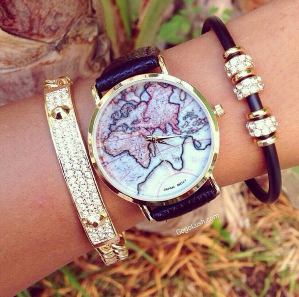 jewels watch world bracelet