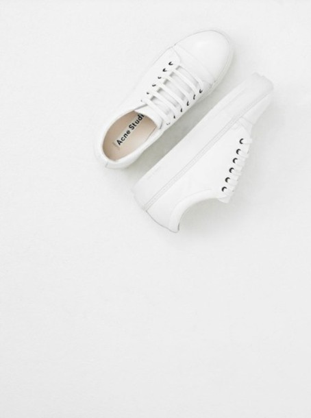 shoes white all white everything sneakers acne studios minimalist minimalist shoes white shoes white sneakers