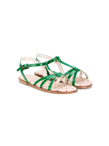 PePe sandals leather green shoes