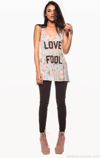 LOVE FOOL INDIAN TANK - Sale - Shop By - Clothing