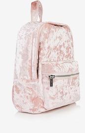 bag,backpack,pink,velvet,pink velvet