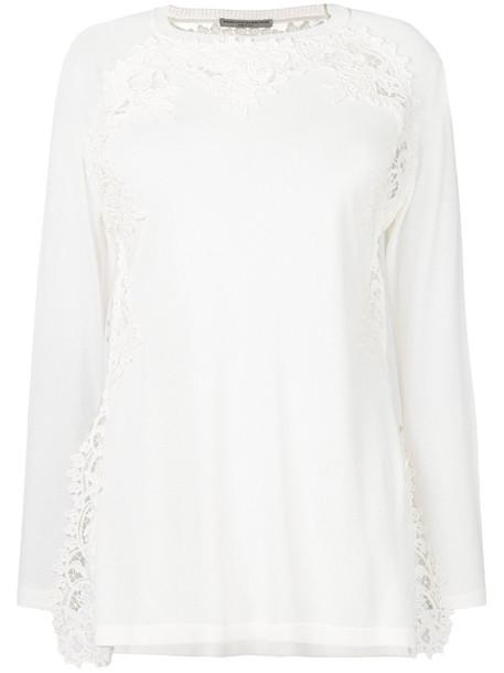 Ermanno Scervino top embroidered women white cotton