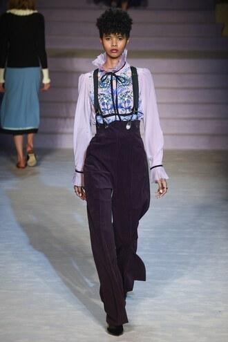 pants high waisted blouse top temperley london london fashion week 2017 fashion week 2017